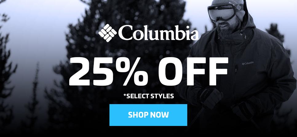 25% OFF COLUMBIA APPAREL