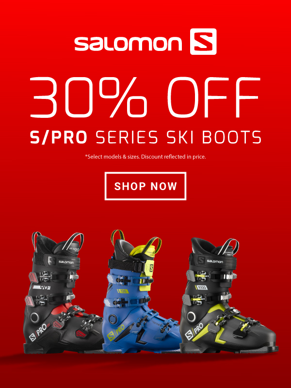 30% OFF S/PRO SERIES SKI BOOTS - BANNER