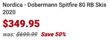 Nordica Dobermann Spitfire 80 RB Skis 2020 Info