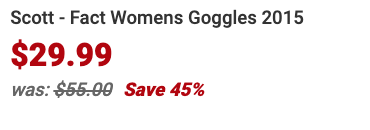 About Scott Fact Womens Goggles 2015